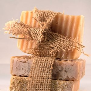 Homemade goat milk soap